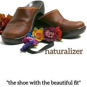 Naturalizer Shoes - Naturalizer Leather Clogs Mules Size 7.5